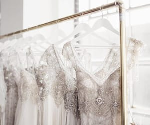 dresses, silver, and sparkles image