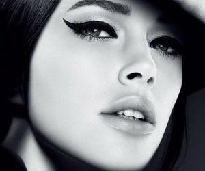 black and white, eyeliner, and eyes image