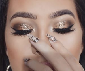glitter, make uo, and makeup image