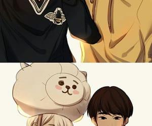 bts, fan art, and yoonmin image