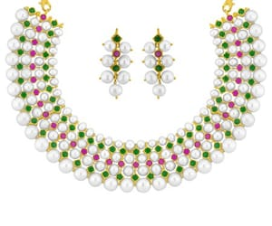 pearls necklace and darling pearls necklace image