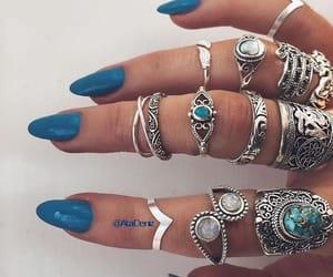 nails, bohemian, and boho image