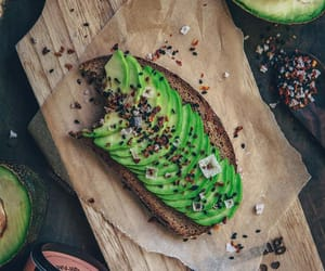 avocado, avocado toast, and food image