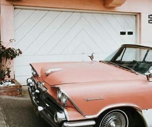 car, pink, and peach image