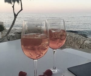 drink, summer, and ocean image