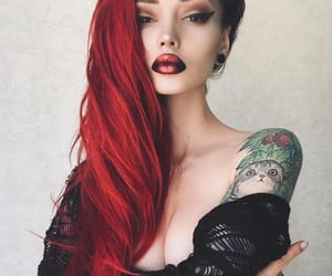 girl, makeup, and red hair image