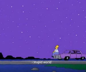 simpsons, purple, and world image