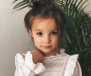 beautiful, brown eyes, and brown hair image