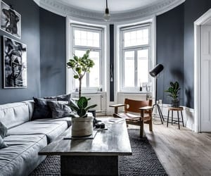 apartment, blue, and design image