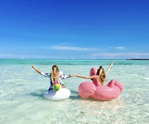 beach, bff, and fun image
