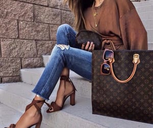 bag, jeans, and sit image