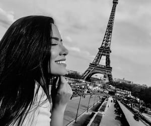 black and white, girl, and paris image