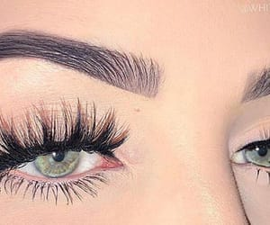 beautiful, blue eyes, and makeup image