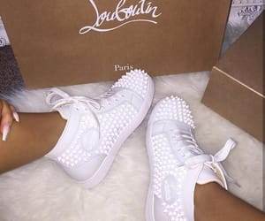 basket, louboutin, and white image