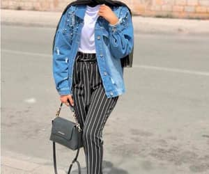 striped pants hijab image
