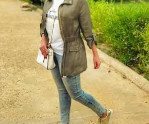 olive green jacket hijab image