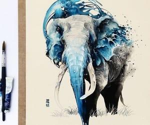 art, drawing, and elephant image