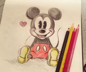 drawing and miki mouse image