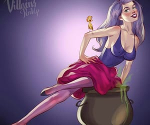 disney, villain, and Pin Up image