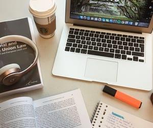desk, study, and coffee image