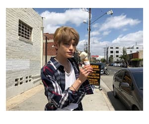 date, handsome, and ice cream image