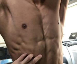 abs, asian, and sixpack image