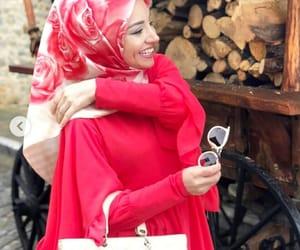 beauty, smile, and hijab image