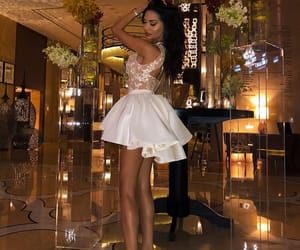 beautiful woman, dress, and fashion image