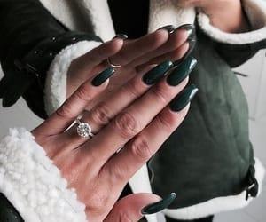nails, green, and ring image
