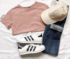 jeans, sneakers, and style image