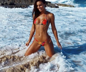 model, sea, and summer life image