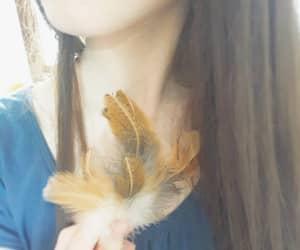 piume, fan, and labbra image