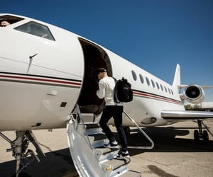 jet, luxury, and private jet image