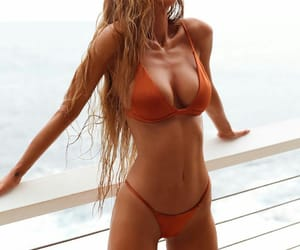 beach, hair, and bikini image