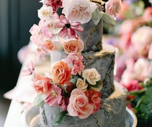 bridal, cake, and wedding cake image