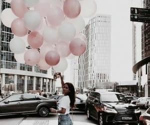 balloons, girl, and fashion image