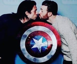 chris evans, Marvel, and sebastian stan image