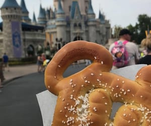 castle, disney, and food image