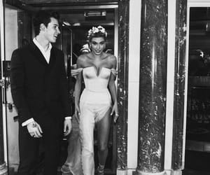 couple, hailey baldwin, and shawn mendes image