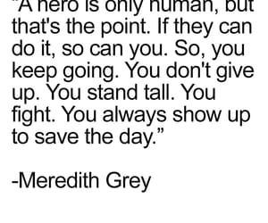 quotes, grey, and meredith image