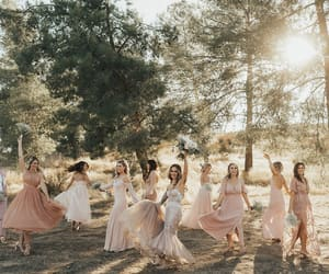 bridesmaids, dress, and fashion image