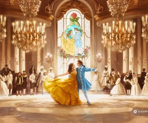 beauty and the beast, dan stevens, and emma watson image
