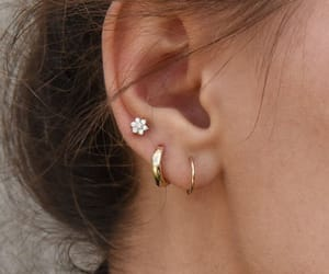 flower and piercing image