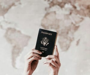 passport, travel, and traveling image