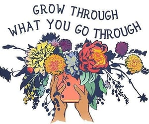 quotes, flowers, and goals image