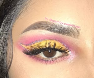 eyeshadow, glitter, and lashes image