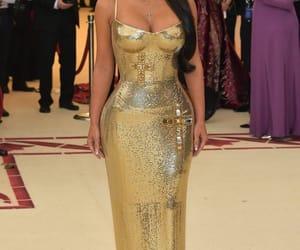kim kardashian, fashion, and met gala image
