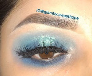 blue, ‎mua‬ ‪, and eyeshadow image