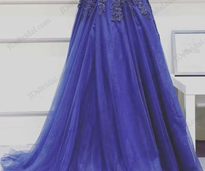 long evening dress, mother dress for wedding, and blue prom gowns image