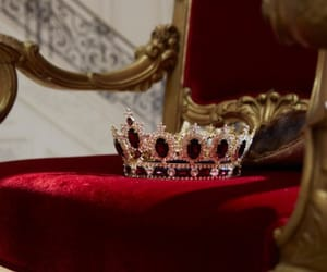 crown, red, and aesthetic image
